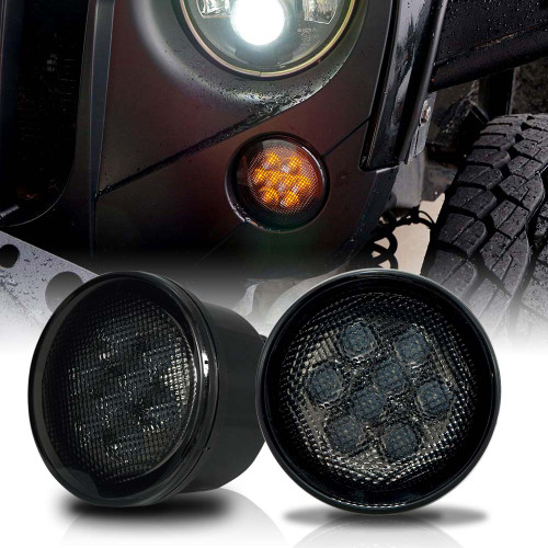 LED Smoked Turn Signals for Wrangler 2007-2018