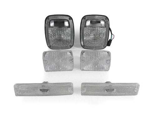 Clear Tail Lights Turn Signals Combo for Wrangler YJ 1987-1993
