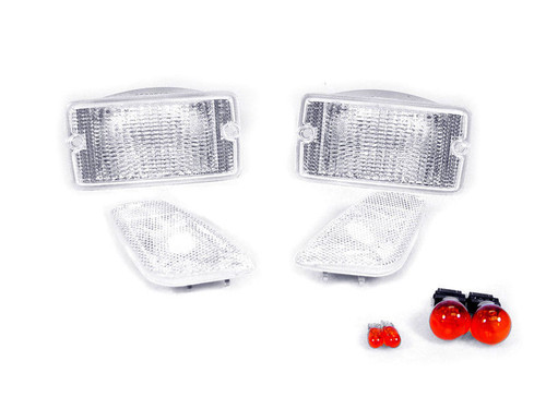 Clear Bumper Signal and Side Marker Lights Combo for Wrangler TJ 1997-2006