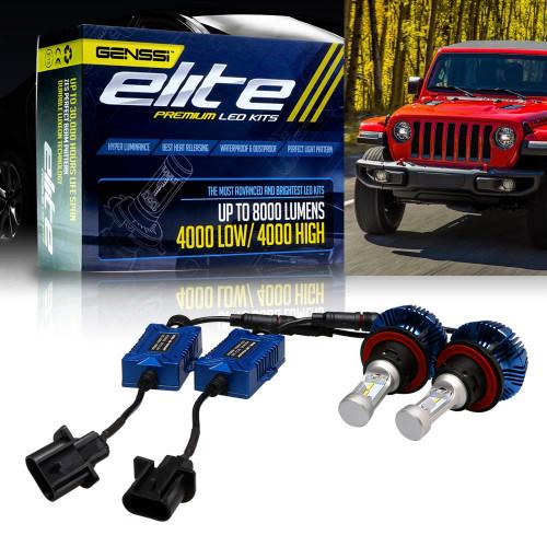 LED Headlight Conversion Kit for Jeep Wrangler JL 2018-up