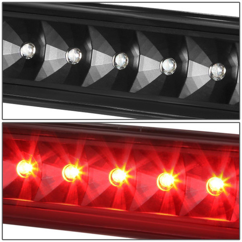 Black LED 3rd Third Brake Light for Jeep Wrangler TJ 1997-2006