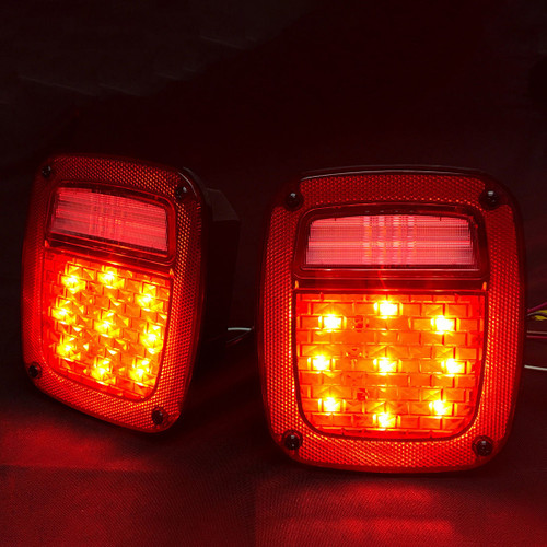 LED Red Tail Lights for Jeep Wrangler CJ YJ TJ