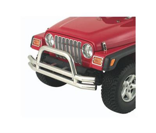 Front Bumper with Hoop in Stainless Steel for Jeep Wrangler CJ YJ & TJ 1976-2006