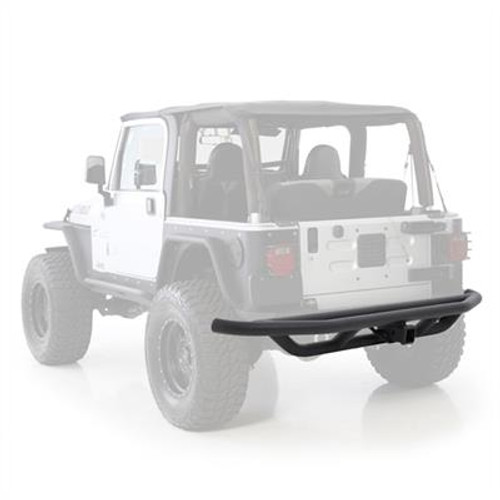 SRC Rear Bumper with Receiver Hitch Black for Wrangler YJ & TJ 1987-2006