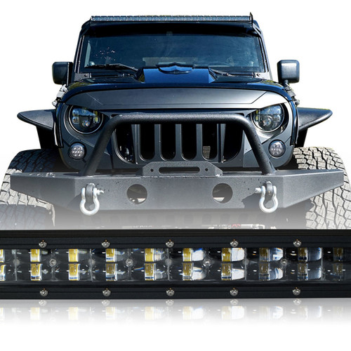 Magnificent Led Light Bar Combo Kit With Aux Lights Bracket Wiring Harness Kit Wiring Digital Resources Apanbouhousnl