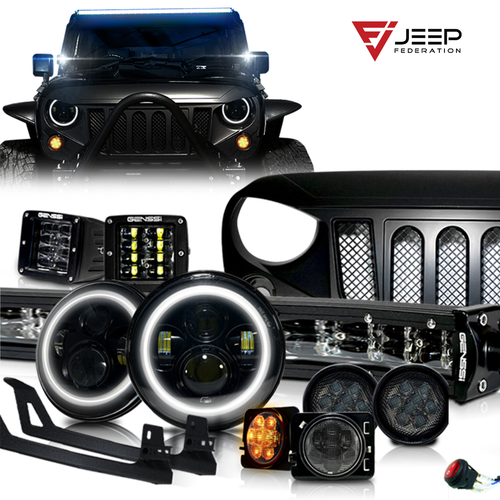 Jeep Federation Black out 13 Piece Appearance package