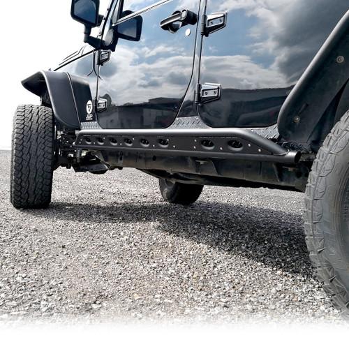 Tube Side Steps Rail Steps Rock Sliders 2007-2018 Jeep Wrangler 4dr