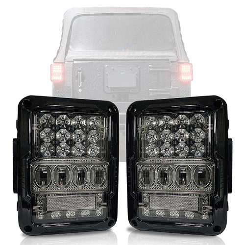 Optical Array Clear LED Tail Lights for Wrangler JK 2007-2017