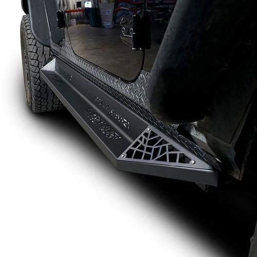 AGGRESSOR Side Steps Rail Steps Rock Sliders 2007-2018 Jeep Wrangler 2dr