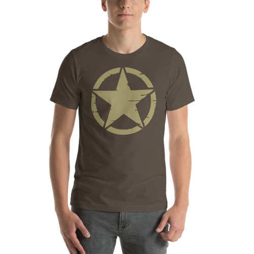 Military Star Jeep Wrangler T-shirt
