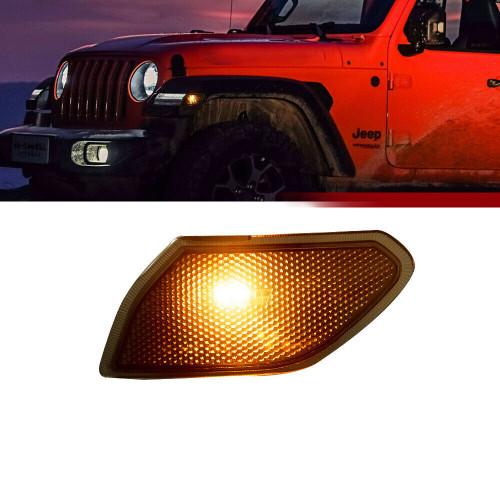 Smoked Corner Lights for Jeep Wrangler JL 2018+