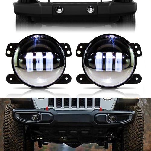 LED Fog Lights for Jeep Wrangler JL Gladiator Rubicon Sahara
