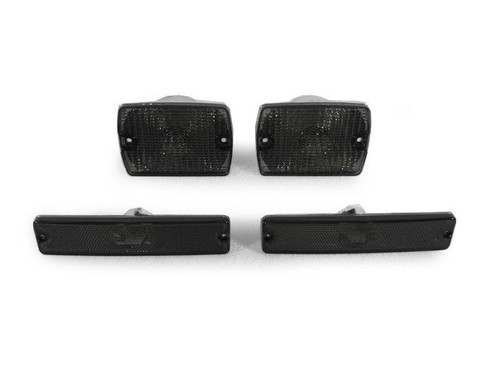 Smoked Bumper and Sidemarker Lights for Jeep Wrangler YJ 1987-1993
