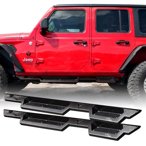 Running Boards Side Steps Rail Steps Rock Sliders for Jeep Wrangler JLU 4dr 2018 up