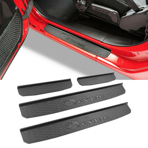4 Door Aftermarket Door Sill Guards for Jeep Wrangler JL 2018+