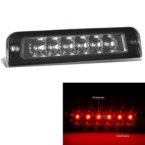 Red Clear LED 3rd Third Brake Light for Jeep Wrangler TJ 1997-2006