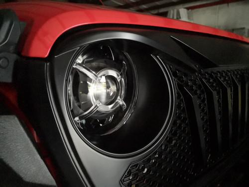 Cyclone HALO LED Headlights for Wrangler JL &  Gladiator 2018+