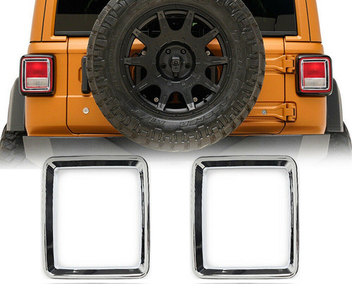 Rear Tail Light Lamps Guards Chrome Trim Cover For Jeep Wrangler JL 2018+