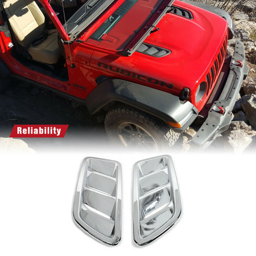 Front Engine Hood Air Vent Cover Decoration For Jeep Wrangler JL 2018+