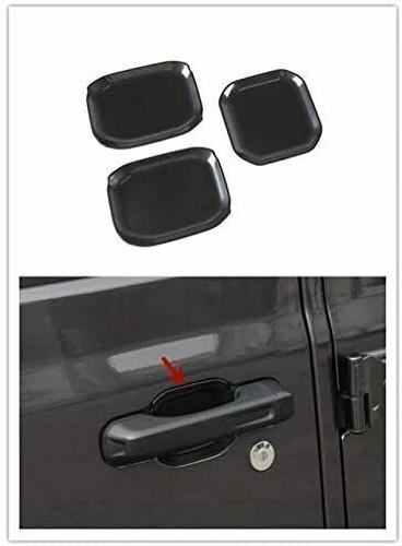 Door Handle Bowl Recess Guard Trim Cover Exterior Kit for Jeep Wrangler JL 2018+