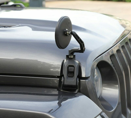 Hood Cover Backup Mirror for Jeep Wrangler JL (2018-2020)