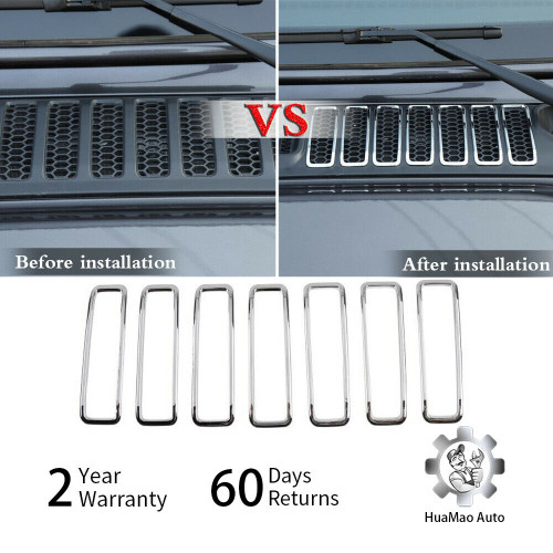 Hood Air Intake Vent Grille Cover Trim for Jeep Wrangler JL (2018 2019)
