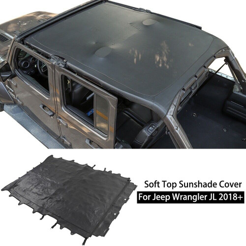 Brief Soft Top Cover Sunshade for Jeep Wrangler 2018+ JL 4Dr