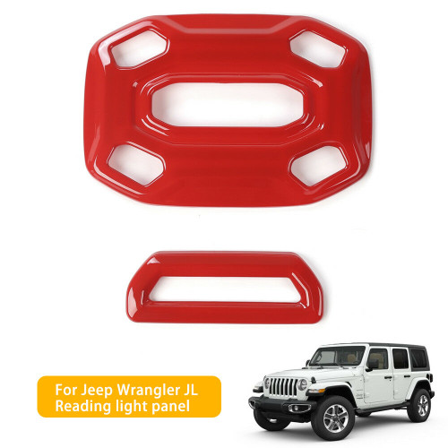 Reading Lamp Light Panel Cover Trim for Jeep Wrangler JL Red 2018+