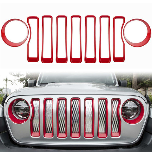 Front Grille Inserts & Headlight cover for Jeep Wrangler JL/ Sport 2018+