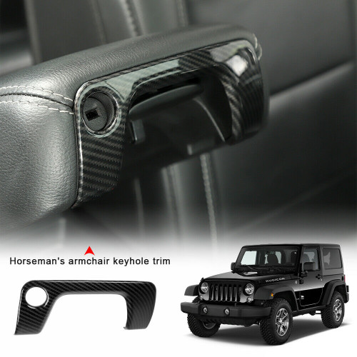 Center Armrest Box Keyhole Trim Cover for Jeep Wrangler JL 2018+
