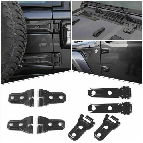 Door & Engine Hood & Spare Tire Bracket Hinge Cover For 2Dr Jeep Wrangler JL 2018+