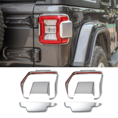 Tail light Frame Cover For Jeep Wrangler JL JLU 2018+ Silver