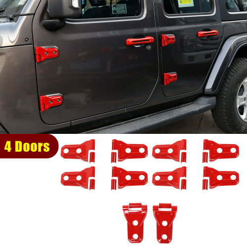 4-Door and Engine Hood Hinge Cover Trim for Jeep Gladiator JT JL  2020-2021 Red