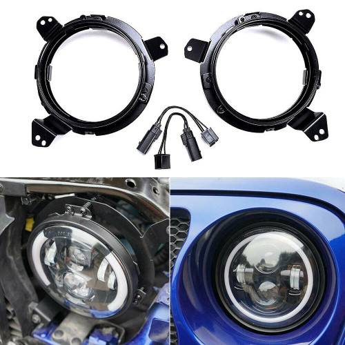 7 Inch Round LED Headlight Ring Mounting Brackets For Jeep Wrangler JL 2018+