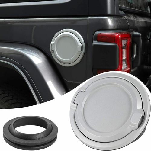 Gas Cap Cover Non-Fading Fuel Tank Door for Jeep Wrangler JL JLU 2018+