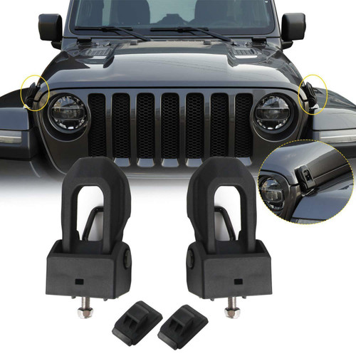 Hood Lock  Bracket Latches for Jeep Wrangler JK JKU Sahara 2007-2017