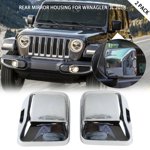 Review Mirror Covers Trim With Light For Jeep Wrangler JL 2018+