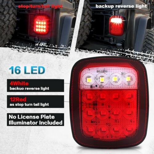LED Tail Lights Turn Signal for jeep Wrangler CJ YJ TJ JK Rubicon 1976-2006