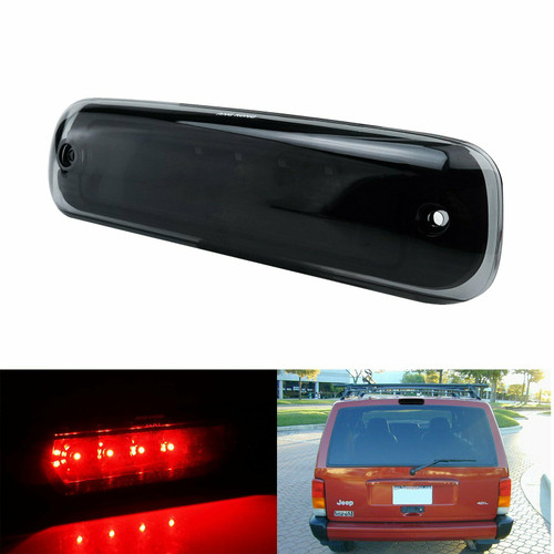 High Tail Brake LED Light Smoked Red For Jeep Cherokee XJ (1997-2001)