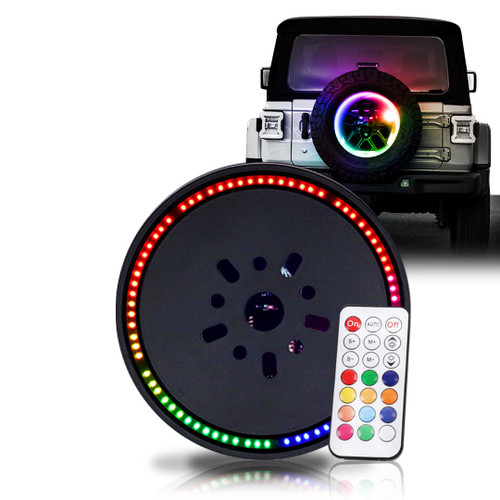 Tire Carrier Spare Tire Color LED Lighting Kit with Remote