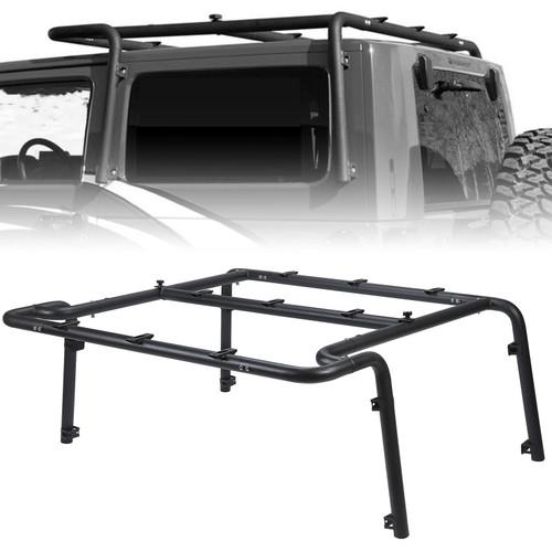 Roof Steel Rack For Jeep Wrangler JK 2-Door (2007-2010) Black