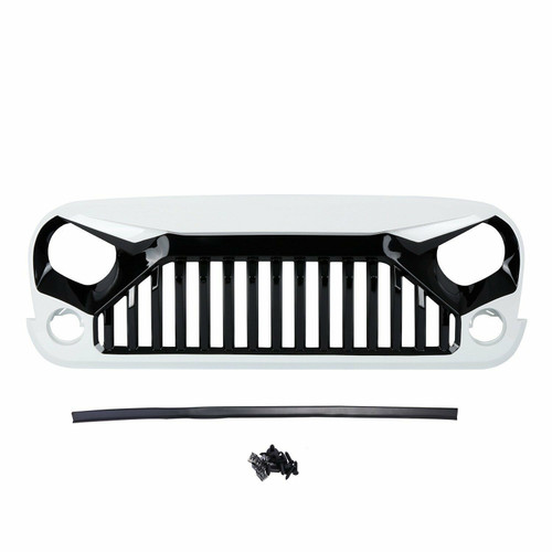White&Black Gladiator Vader Grill Jeep Wrangler JK 2007-2017