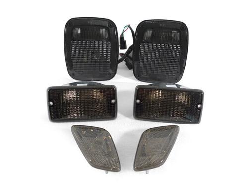 DEPO Smoke Tail Bumper Signal Side Marker Lights for Jeep Wrangler TJ 1998-2006