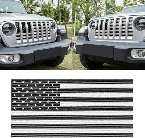 Front Grille Flag Mesh Insert For Jeep JL 2018-2021