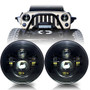 LED Headlight on Jeep Wrangler - Black