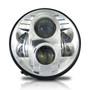 APOLLO Chrome Projector LED Headlights for Wrangler 1996-2018