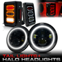 Halo Headlights + Diamond Tail Lights Combo for Wrangler JK 2007-2018