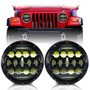 XPE Honeycomb Array Black LED Headlights for Wrangler 1996-2017