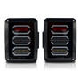 DIAMOND Black LED Tail Lights for Wrangler JK 2007-2017