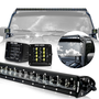 LIGHT BAR =  50 inch 3D Duel Row Projected Slim light bar, guaranteed not to whistle or your money back!